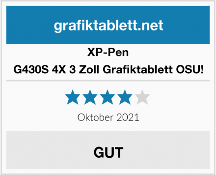XP-Pen G430S 4X 3 Zoll Grafiktablett OSU! Test