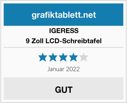 IGERESS 9 Zoll LCD-Schreibtafel Test