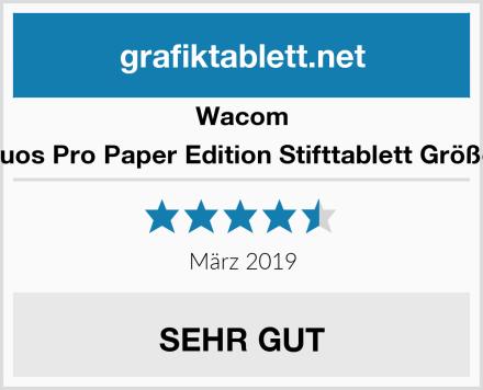 Wacom Intuos Pro Paper Edition Stifttablett Größe L Test