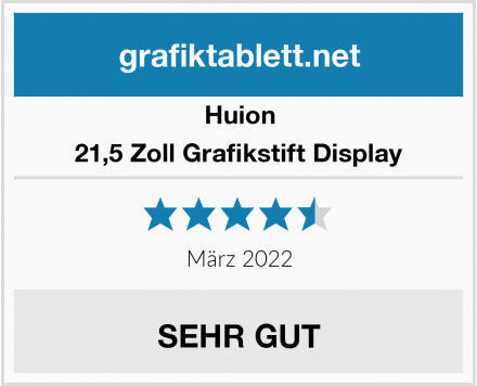 Huion 21,5 Zoll Grafikstift Display Test