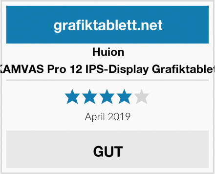 Huion KAMVAS Pro 12 IPS-Display Grafiktablett Test