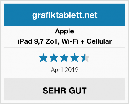Apple iPad 9,7 Zoll, Wi-Fi + Cellular Test