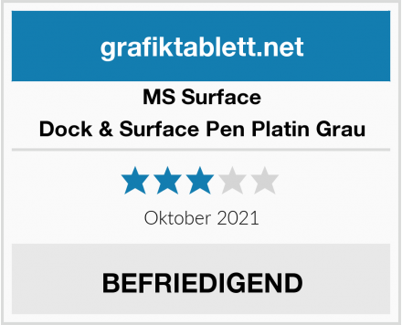 MS Surface Dock & Surface Pen Platin Grau Test
